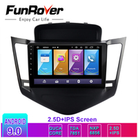 Funrover 2.5D+IPS Car Radio Multimedia dvd player Android 9.0 For Chevrolet Cruze 2009 2013 2din car gps navigation radio stereo