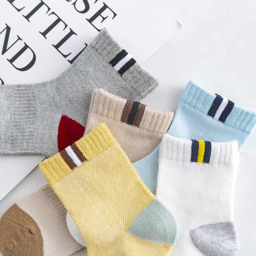 5Pairs/lot 2-9Y Baby Socks Summer Cotton Color Patchwork Kids Socks Colorful Girls Mesh Cute Newborn Boys Toddler Socks Baby 5