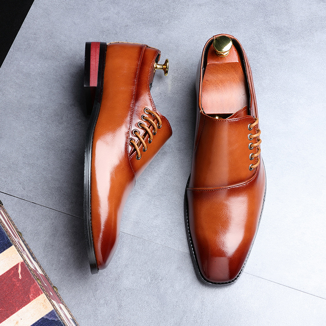 Fashion Business Dress New Classic Leather Suits Shoes 5