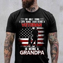Dziadek weteran koszule jedyne, co kocham bardziej niż bycie weteranem T-shirt