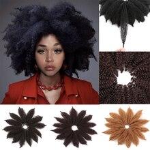""""""" вязанные крючком косички марли черные волосы мягкие афро Твист Синтетические косички для наращивания волос высокотемпературное волокно для женщин"""