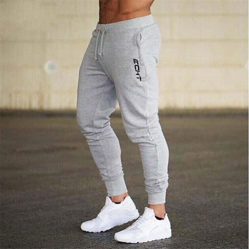 Men Cotton Jogger Sweatpants Autumn Winter Man Running Workout Training Slim Trousers Male Gym Fitness Bodybuilding Sports Pants
