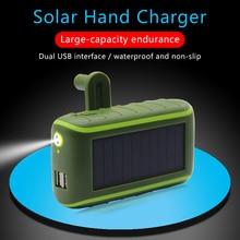 Solar Hand Crank Power Bank For Samsung S10 Waterproof Solar
