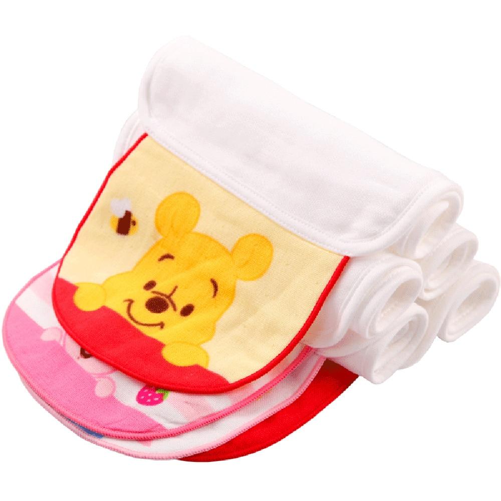 Disney Soft Baby Sweat Towels Infant Back Dry Wipe Cotton Gauze Cloth Back Pad Towel Absorbent Towels 21*40cm 4-piece set
