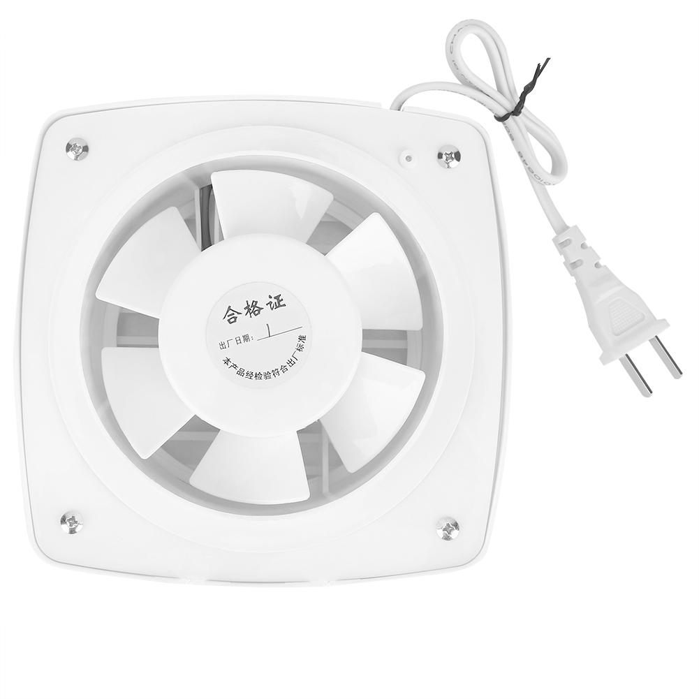 12W 220V Home Bathroom Kitchen Window Wall Mount Air Vent Ventilation Exhaust Fan Bathroom Hanging Wall Duct Air Blower|Blowers| |  -