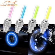 2X Atmosphere Welcome Light Hub Lamp Auto Car Wheel Light Moto Bike Light Tire Valve Decorative Valve Cap Flash Spoke Neon Lamp