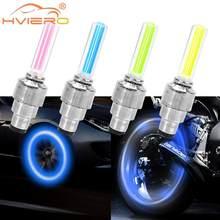 Lampe Hub de Valve de voiture, 2 pièces d'ambiance, lumière de roue pour Moto, lumière de pneu, lampe décorative à capuchon de Valve, lampe Flash néon