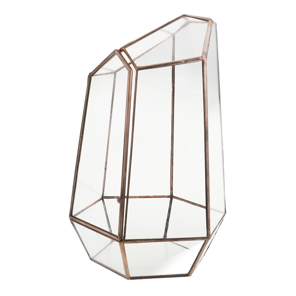 Купить необычная стеклянная геометрическая коробка для террариума высота