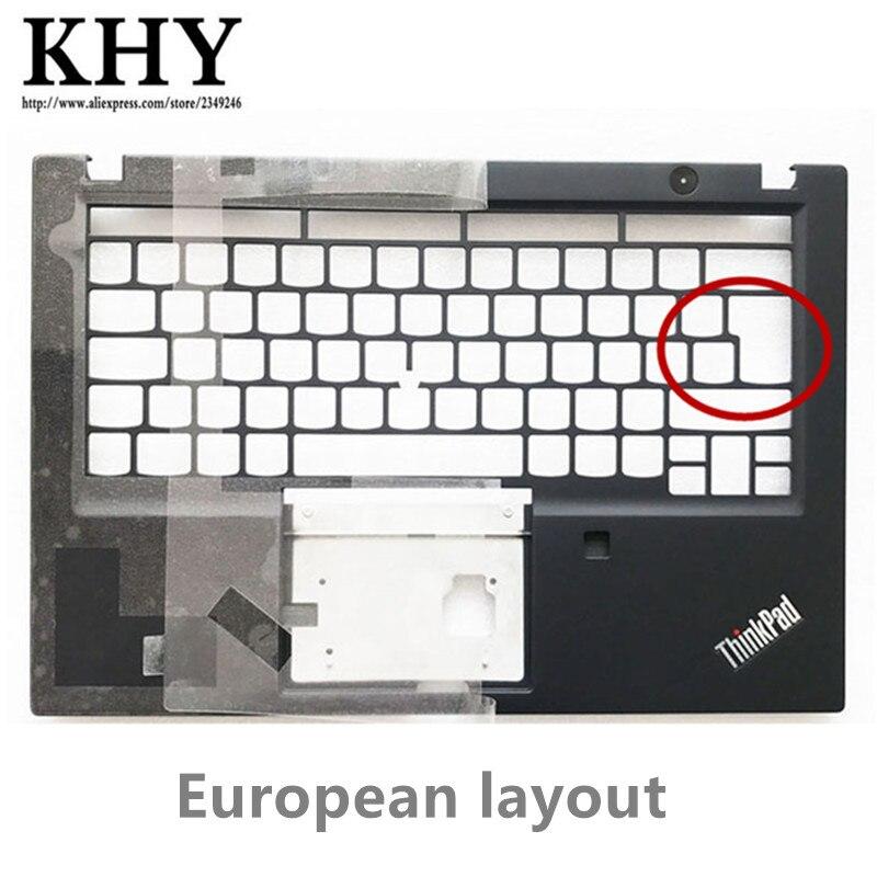 Original layout europeu teclado moldura palmrest c capa superior caso escudo para thinkpad t490s t495s computador portátil sm10q26226