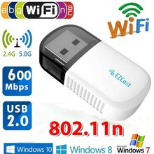 Ezcast adaptador WIFI USB inalámbrico 5G/2,5G Bluetooth 4,2 doble banda AC 600Mbps 3B12 USB2.0 inalámbrico 802,11 N adaptador(China)
