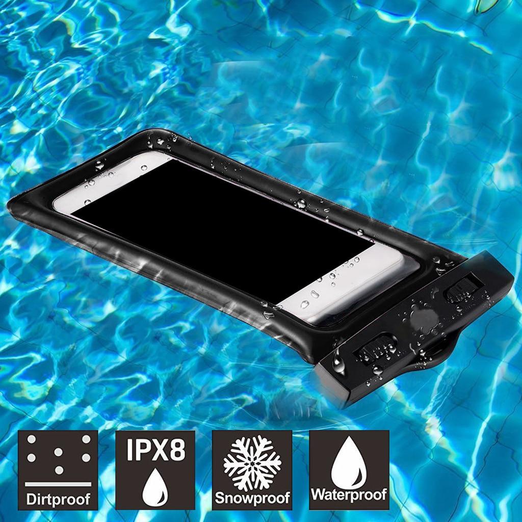 Waterproof Mobile Phone Bag Case Swimming Pool Floating Air Bag Design Neck Strap Universal 6 Inches Phones Diving Equpment Set