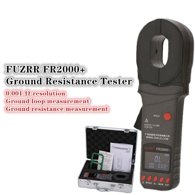 FUZRR FR2000 + Serie Digitale Clamp Op Grond Aardweerstand Tester Bliksembeveiliging Bliksem Grond Tester 99 Set
