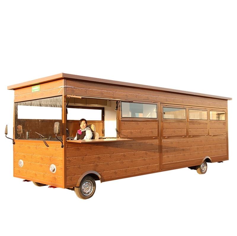 New Designcustomized Long Food Trailer Mobile Fast Food Truck Customized Food Cart Trailer By Sea