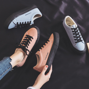 Image 1 - Womans Fashion 2020 Spring Fashion Flat Sneakers Female Color Flats Shoes Casual Low top Platform Sneakers Womens Shoes
