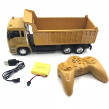 10CH RC Dump Truck 2.4HZ Remote Control Hydraulic Vehicle USB charging Kids Car Toys Electric Loader Gift for findit