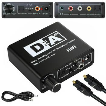 DAC Optical Toslink Coaxial Bi-directional Switch RCA 3.5mm Jack Digital to Analog Audio Adapter Converter DC 5V Power unnlink new digital to analog audio adapter 192khz dac spdif optical toslink coaxial to r l rca 3 5 jack for ps4 led tv mi box