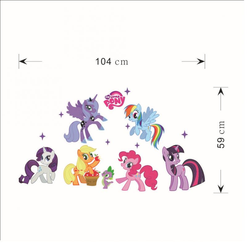 Cute My little Pony Wall Sticker Removable Stickers Waterproof Modern DIY For Kids Rooms Study Living Room Home Decoration|Wall Stickers| |  - title=
