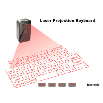 Portable Bluetooth 3.0 Wireless Virtual Laser Keyboard Mini Bluetooth Projection Keyboard for Windows For Mobile Phones smartphone infrared wireless speaker bluetooth laser projection virtual invisible keyboard high tech electronics