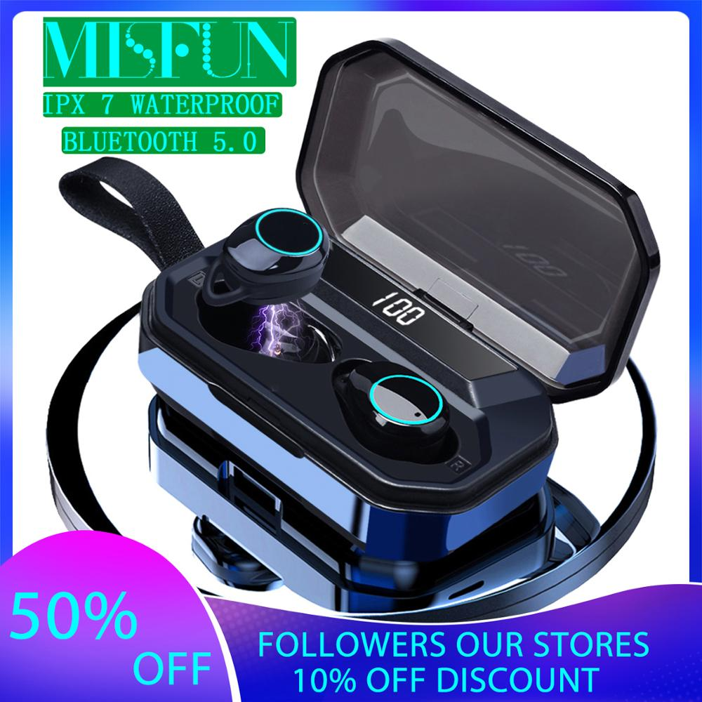G02 TWS 5.0 Bluetooth 9D Stereo Earphone Wireless Earphones IPX7 Waterproof Earphones 4000mAh LED Display Smart Power Bank