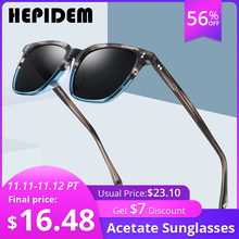 Acetate Polarized Sunglasses Men High Quality Fashion Brand Designer Vintage Square Sun Glasses for Women Goggles Sunglass