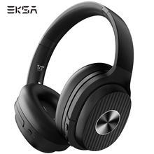 Eksa E5 アクティブノイズキャンセリングヘッドホンbluetoothワイヤレスヘッドフォン折りたたみ 耳ポータブルヘッドセット電話用音楽usb c