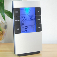 Digital Indoor Thermometer Hygrometer Monitor Temperature Humidity Meter with Backlight Time Clock for Household Tools