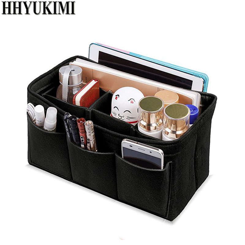 Womens Makeup Organizer Felt Cloth Insert Bag For Handbag Multifunctional Cosmetic Bags Makeup Bag Fit Speedy Neverfull
