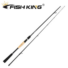 Buy FISH KING Carbon Spinning Fishing Rod 1.98m/2.1m/2.4m/2.7m Super Hard 2 Sections Lure Fishing Rod For Squid Pike Fishing pole directly from merchant!