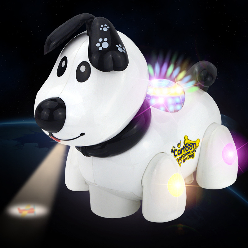 Electric Universal Toy Car Projection Light Music Children'S Educational DIY Robot Dog Model Stall Supply Of Goods Heat