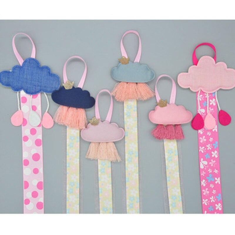 Girls Baby Ribbon Hanging Hair Bow Headband Clip Organizer Cloud Tassels Holder