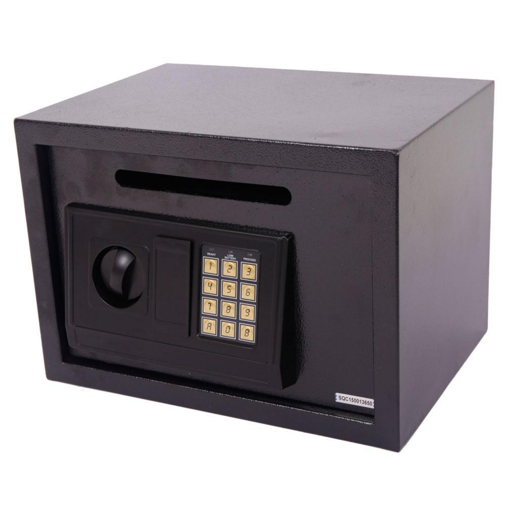 DS25EA Digital Safe Box Home Office Security Keypad Lock Electronic Housing Case Steel Safty Box Black 35 X 25 X 25cm