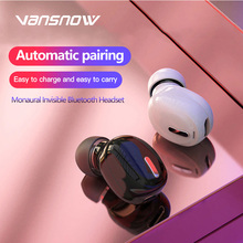 Mini Wireless Bluetooth 5.0 Earphone HiFi In-Ear Headset with Mic Sports Earbuds Handsfree Stereo Sound Headphones for All Phone bluedio original t2 bluetooth wireless foldable headphones built in mic bt4 1 3d sound headset for cell phone xiaomi samsung