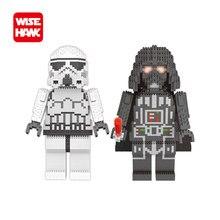 WiseHawk пластиковые блоки собранная модель большой размер Дарт Вейдер фигурки Строительные кирпичи развивающие игрушки для детей мини