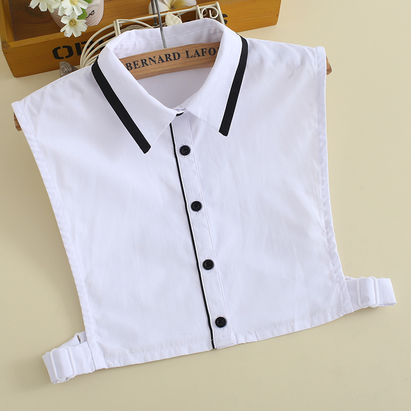 2019 New Winter Womens Black White Pactchwork Fake Shirt Blouse Collar Col Ladies Removable False Detachable Collars For Women