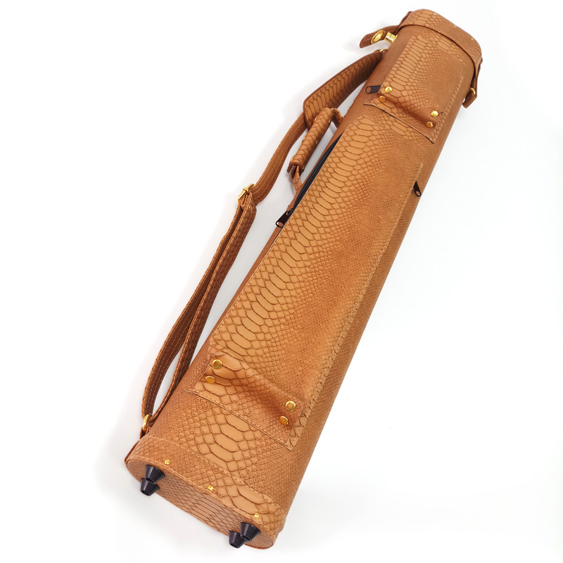 xmlivet 6holes Brown leather Billiards Pool cue case for 1/2 splited cues 2Butt 4Shaft Billiards cue accessories