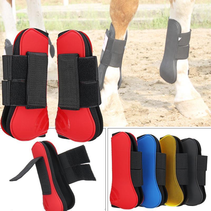 Horse Guard Tendon Horse Guard Fetlock Jump Partner Equestrian PU 4 Colors Horse Leg Guard Protect Boots Horse'S Foreleg Riding