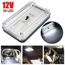 Plafonnier LED 12V 36 LED pour intérieur de voiture, toit, plafond, lampe de lecture, coffre, livraison directe