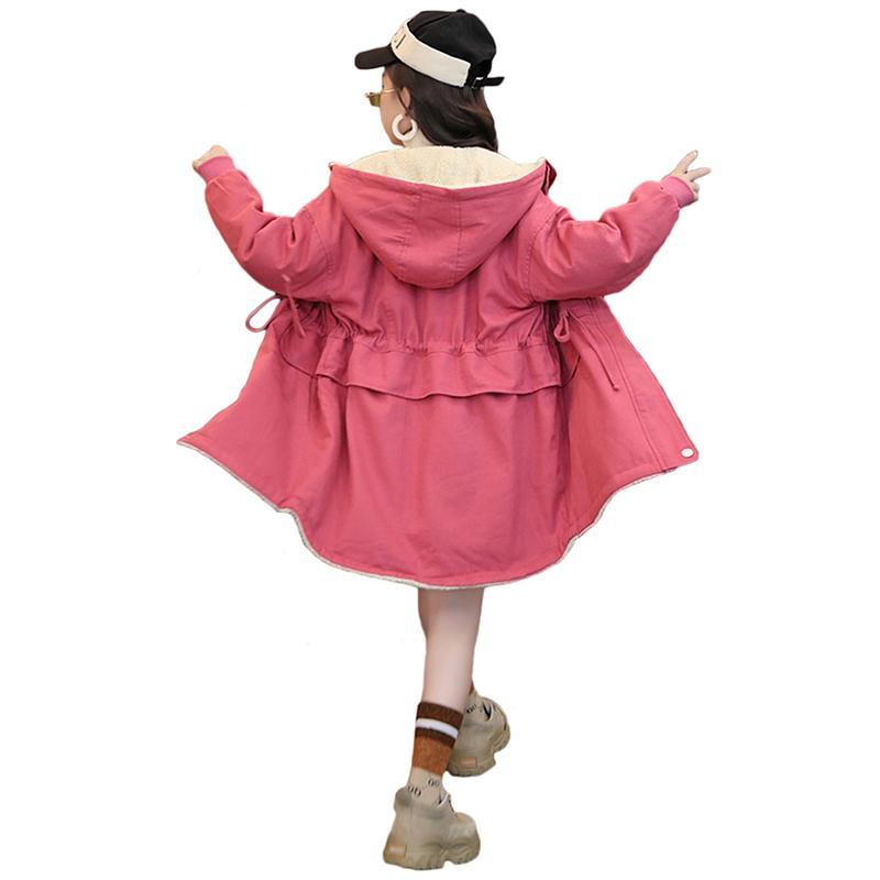 D-Sun Kids Girls Wool Blend Hoodie Capes Poncho Children Fall Winter Outwear