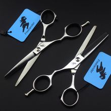 Left Hand 5.5 INCH Stainless Barber Makas Straight Scissors Thinning Shears Hairdressing Scissors Salon Hair Scissors microscopic instruments 14 cm micro scissors inner barrier cut quality scissors hand surgery membranous envelo