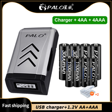 PALO AA AAA Battery 1.2V NIMH AA AAA Rechargeable Batteries for clocks, mice, computers,Microphon,Mouse battery
