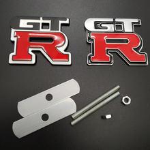 Металлическая 3d эмблема переднего гриля 1 шт gtr автомобильные