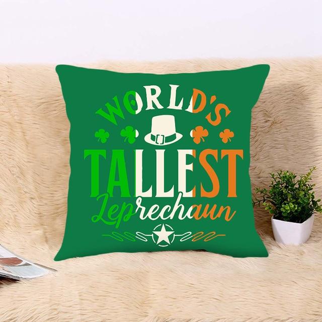 Happy Saint Patricks Day Decor For Home Clover Pillowcase St.Patricks Day Party Decor Irish Party Supplies Favor Gift 1