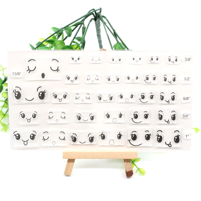 KSCRAFT Face Transparent Clear Silicone Stamps For DIY Scrapbooking/Card Making/Kids Crafts Decoration Supplies