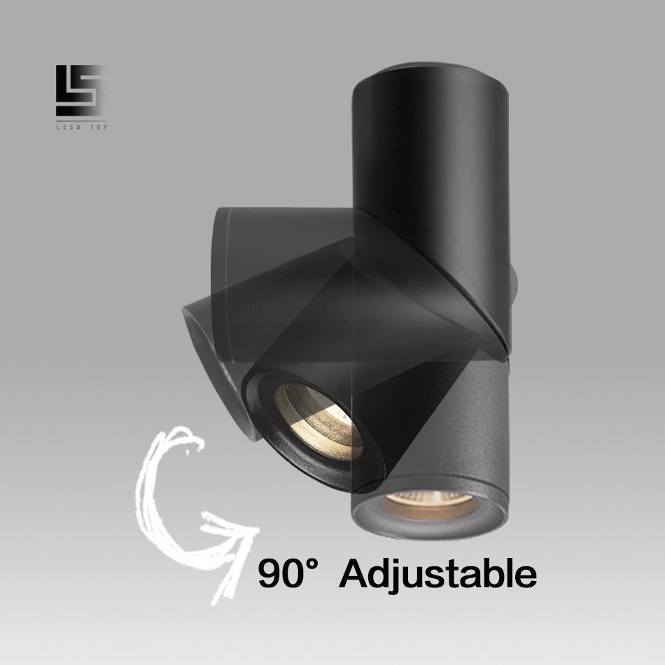 LED Ceiling Spotlight Surface Mounted Downlight 5W 7W 12W White/Black for Living Home Commercial Lighting New Design
