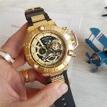 Reloj con motivo de Joker para hombre, reloj de pulsera Masculino de cuarzo Manl dorado, esfera grande, deportivo, Militar