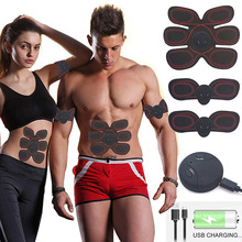 EMS Muscle Stimulator Electric Abdominal Trainer Exercise Machine Electroestimulador Muscular ABS Wireless Fitness Weight Loss abdominal wireless machine electric muscle stimulator stimulation abs ems trainer fitness weight loss body slimming massage