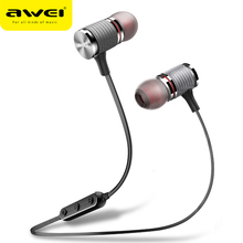 AWEI T12 Wireless Sport Bluetooth Earphones Portable Neckband Earbuds 6D Stereo Sound Compatible With All Smart Phone For Xiaomi