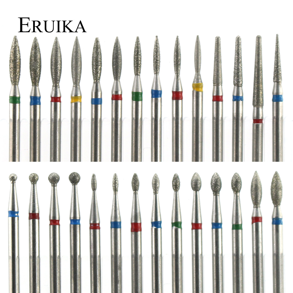 29 Types Diamond Ceramic Nail Drill Milling Cutter For Manicure Rotary Bits Cuticle Clean Accessories Nail Files Art Tools