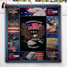 Miracille Freedom America Summer Bedspread Queen Size  Printed Double Quilts for Adults Thin Air-conditioned Comforter colch