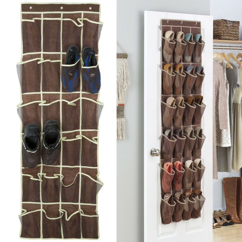 Space Saving Door Hanging Organizer with 24 Pockets for Storage of Shoes Safely 2